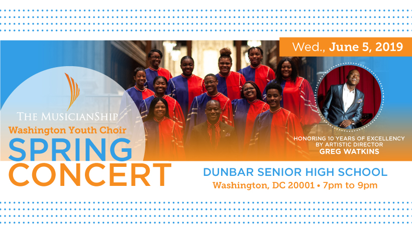 Washington Youth Choir Flyer for Spring Concert
